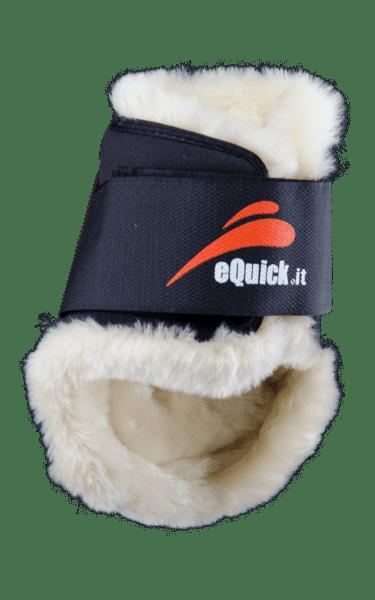 eQuick eSHOCK Streichkappen Lammfell mit Klettverschluss