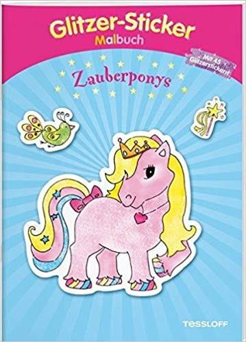 Glitzer-Sticker Malbuch Zauberponys