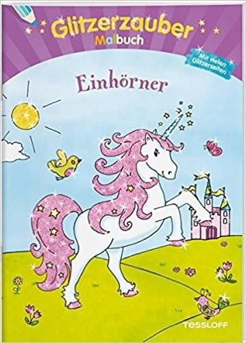 Glitzerzauber-Malbuch Einhörner