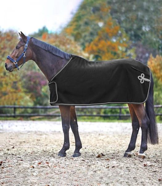 Fleece,- und Sponsorendecke schwarz/silber