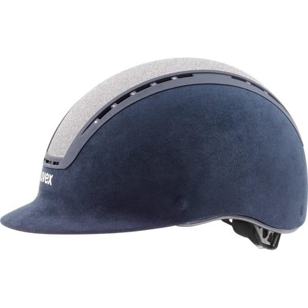 uvex suxxeed glamour blau-silver Reithelm